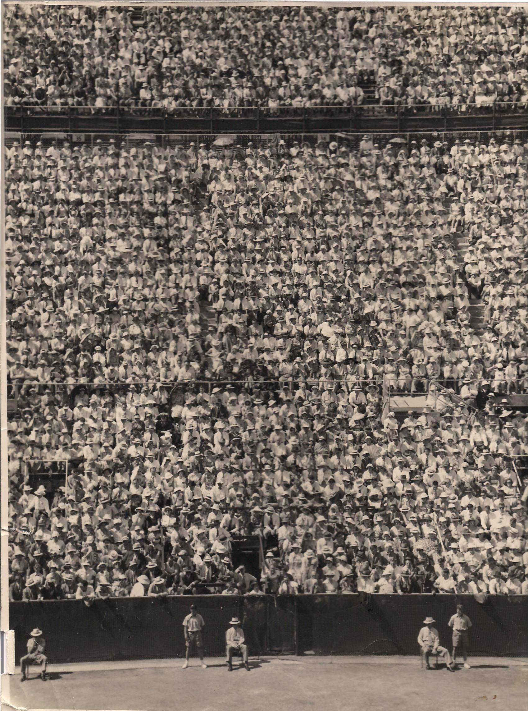 Davis Cup 1956 World Record Crowd - White City