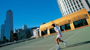 Utilise your company tennis court (Img src: Crown towers)